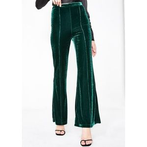 Pants - NWT green velvet bells